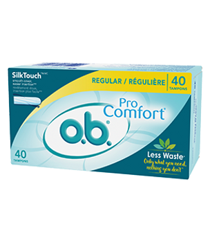 O.B. Pro Comfort Regular SilkTouch Tampons | 40 Tampons