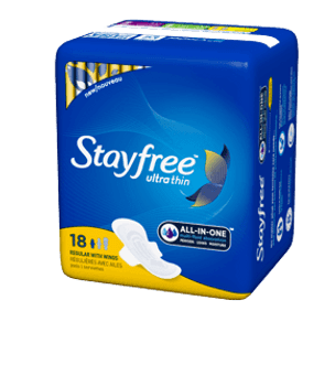Stayfree Ultra Thin Pads - Regular with Wings | 18 Pads