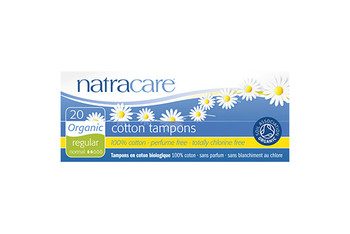 NatraCare Organic Cotton Tampons - Regular | 20 Tampons