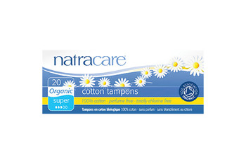 NatraCare Organic Cotton Tampons - Super | 20 Tampons