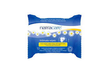 NatraCare Organic Cotton Intimate Wipes with Rose Calendula & Chamomile | 12 Wipes