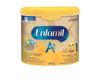 Enfamil A+ Milk-Based Iron Fortified Formula |  663 g
