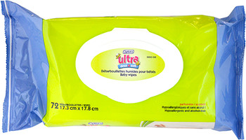 Option+ Scented Ultra Soft Baby Wipes | 72 Wipes