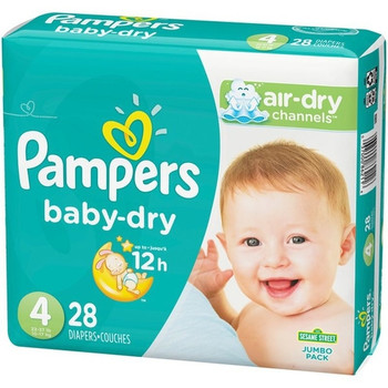 Pampers Baby-Dry Diapers - Size 4 | 28 Diapers