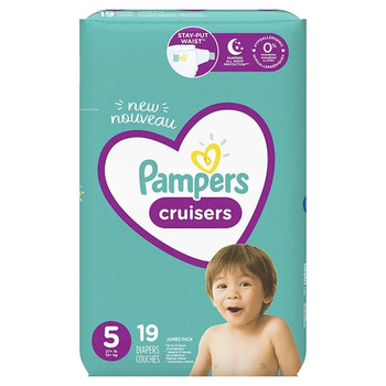 Pampers Cruisers 3- Way Fit Diapers - Size 5 | 19 Diapers