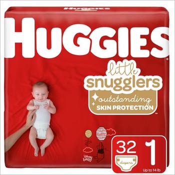 Huggis Little Snugglers Diapers - Size N | 31 Diapers