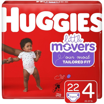 Huggies Little Movers Diapers - Size 4 | 22 Diapers