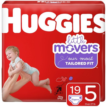 Huggies Little Movers Diapers - Size 5 | 19 Diapers