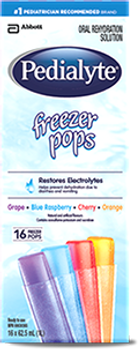 Pedialyte Freezer Pops Oral Rehydration Solution | 16 Freezer Pops