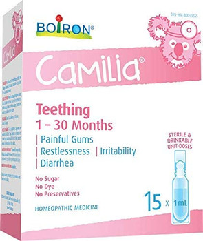 Boiron Camilia Teething - 1 to 30 Months | 30 Drinkable Doses