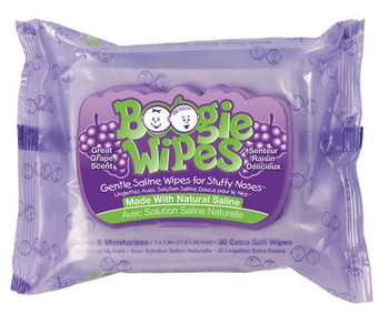 Boogie Wipes with Natural Saline - Great Grape Scent | 30 Wipes