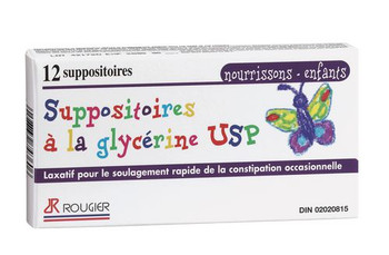 Rougier Pharma Glycerin Suppositories - Infants/Children | 12 Suppositories