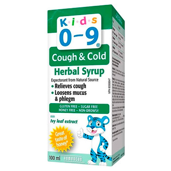 Homeocan Kids 0-9 Cough & Cold Herbal Syrup with Ivy Leaf Extract | 100 ml