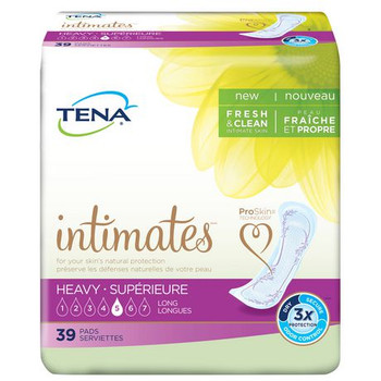 Tena Intimates Incontinence Pads for Women - Heavy Absorbency - Long | 39 Count