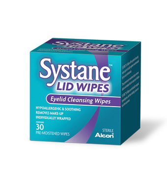Systane Lid Wipes - Eyelid Cleansing Wipes | 32 Wipes