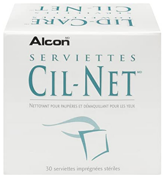 Alcon Lid-Care Towelettes - Eyelid Cleanser & Eye Makeup Remover | 30 Towelettes