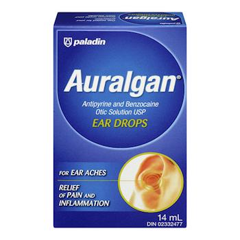 Auralgan Antipyrine & Benzocaine Otic Solution Ear Drops | 14 ml