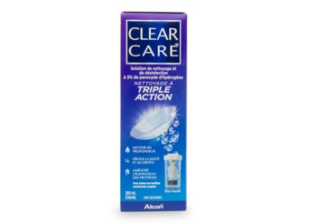 Clear Care Cleaning & Disinfecting Solution with Triple Cleaning Action for Contact Lense | 360 ml