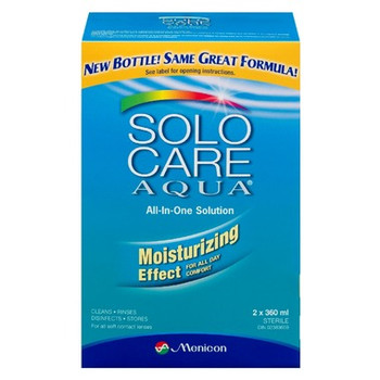 Solo Care Aqua All-In-One Contact Lenses Solution | 2 x 360 ml