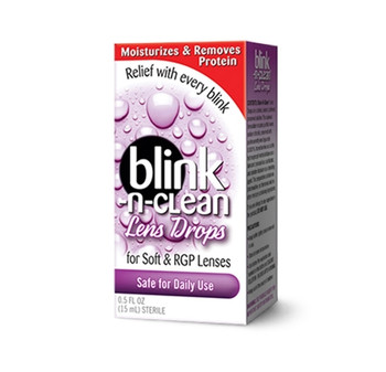 Blink-n-Clean Lens Drips for Soft & RGP Contact Lenses | 15 ml