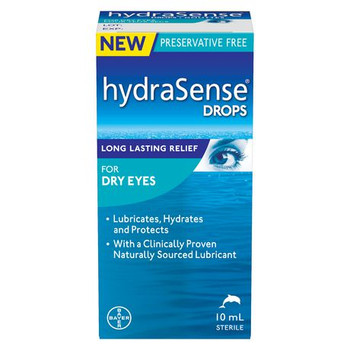 HydraSense Eye Drops for Dry Eyes & Long Lasting Relief | 10 ml