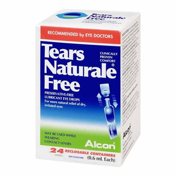 Alcon Tears Naturale Free Lubricant Eye Drops | 24 Reclosable Containers