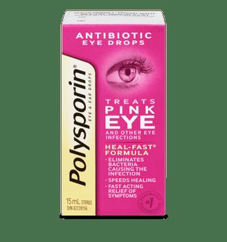 Polysporin Antibiotic Eye Drops for Pink Eye | 15 ml