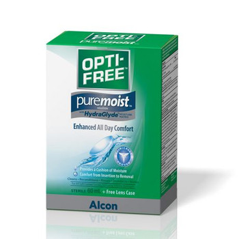 Opti-Free PureMoist Contact Solution with HydraGlyde for Enhanced All Day Comfort | 60 ml