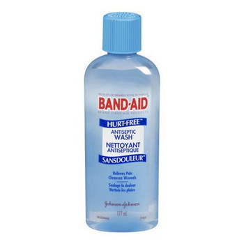 Band-Aid Hurt-Free Antiseptic Wash Lidocaine Hydrochloride Liquid | 177 ml