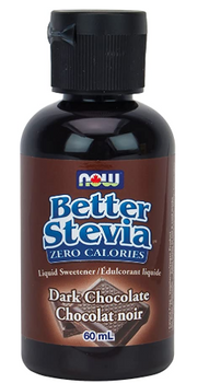 Now Better Stevia Dark Chocolate Liquid Sweetner | 60 mL