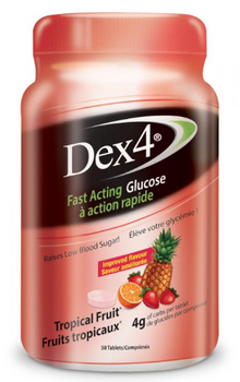 Dex4 Glucose Tablets - Tropical Fruit   50 Tablets
