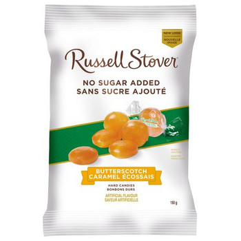Russell Stover No Sugar Added - Butterscotch Hard Candies | 150 g