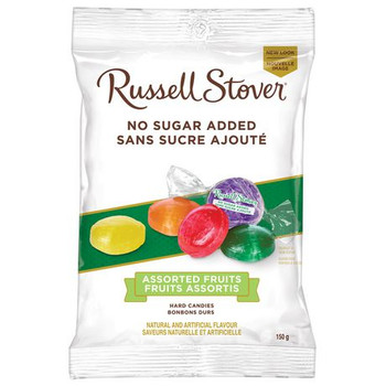 Russell Stover No Sugar Added - Assorted Fruit Hard Candies | 150 g