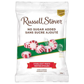 Russell Stover No Sugar Added - Starlight Mint Hard Candies | 150 g