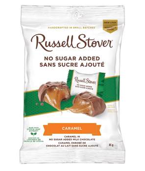 Russell Stover No Sugar Added - Caramel in Milk Chocolate | 85 g