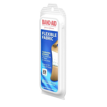 Band-Aid Flexible Fabric Bandages | 8 All One Size Bandages (1.9 cm x 7.6 cm)
