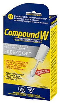 Compound W Maximum Freeze Off with Precision Tip | 12 Applicators