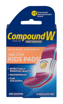 Compound W Maximum Strength One Step Kids Pads | 16 Medicated Pads