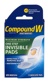 Compound W One Step Invisible Pads | 14 Medicated Pads