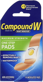 Compound W Maximum Strength One Step Pads | 14 Medicated Pads