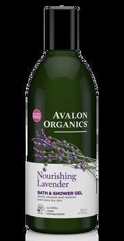 Avalon Organics Nourishing Lavender Bath and Shower Gel   355ml