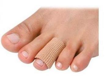 Pedifix Visco-Gel Fabric-Covered Toe Tube | One Size Fits Most