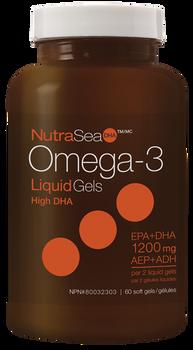NutraSea Omega-3 Liquid Gls High DHA - Fresh Mint   60 Soft Gels