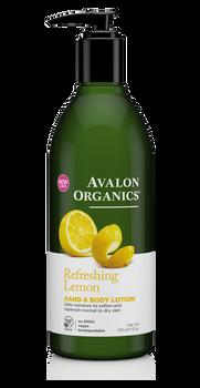 Avalon Organics Refreshing Lemon Hand and Body Lotion | 355ml