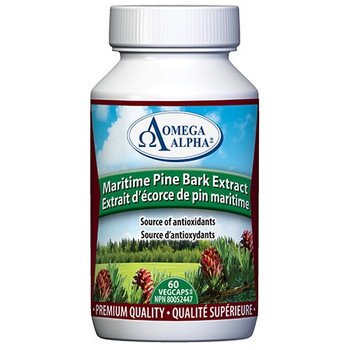 Omega Alpha Maritime Pine Bark Extract - Source of Antioxidants | 60 VegCaps