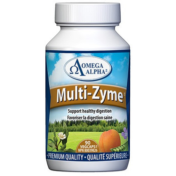 Omega Alpha Multi-Zyme - SUpport Healthy Digestion | 90 VegCaps