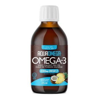 AquaOmega Omega-3 Wild Caught Fish Oil High EPA - Tropical Flavour | 225 ml
