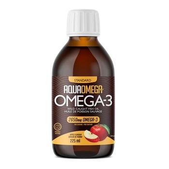 AquaOmega Omega-3 Wild Caught Fish Oil - Apple Flavour | 225 ml