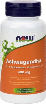 NOW Ashwagandha 15:1 Concentrate - 400 mg | 90 Capsules