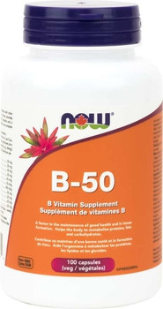 NOW B-50 Vitamin Supplement | 100 Capsules